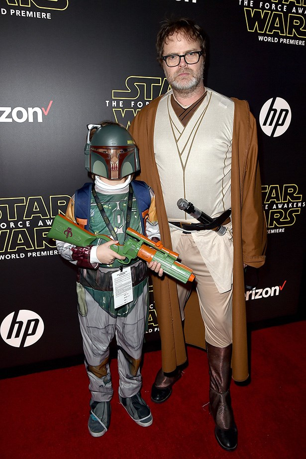 Rainn Wilson as OBI DAD KENOBI.