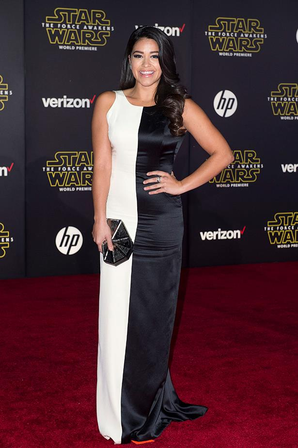 Gina Rodriguez as THE LIGHT AND DARK SIDE OF THE FORCE.