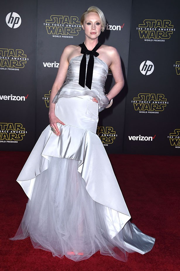 Gwendoline Christie as INTERGALACTIC GLAMAZON.