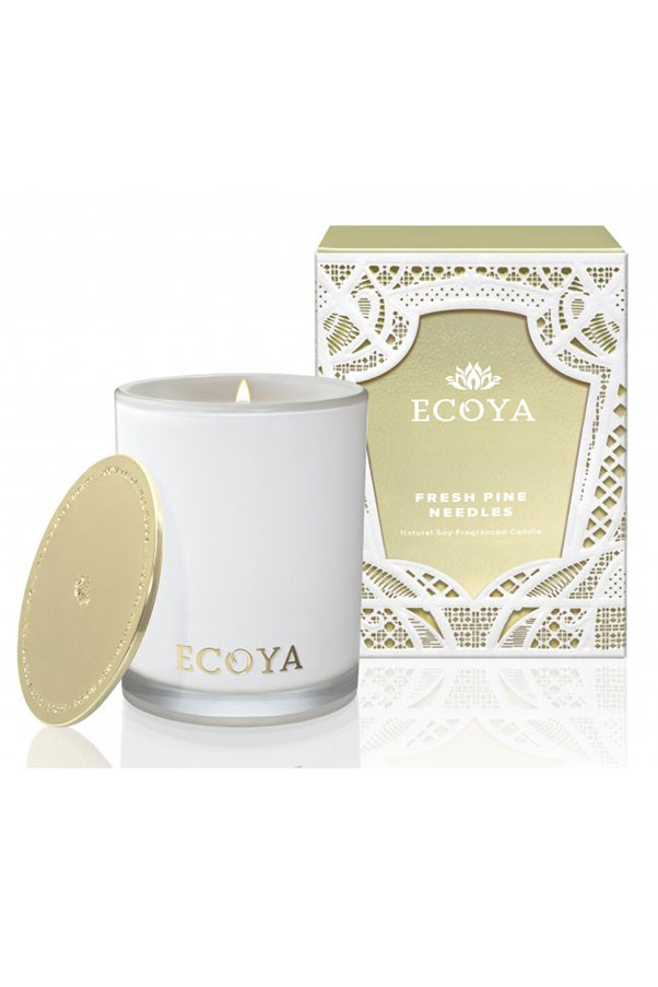 "<strong>Candle in Fresh Pine Needles, $39.95, Ecoya, <a href=""http://www.ecoya.com/shop/Shop+by+Fragrance/Fresh+Pine+Needles.html"">ecoya.com</a></strong> <br><br>Like a Christmas tree without the clean-up. A crisp, earthy scent is a definite winner come Christmas day."