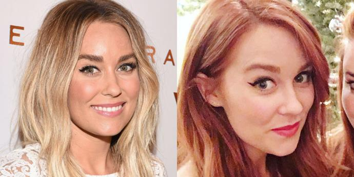<p> <strong>Lauren Conrad</strong></p> <p>OK so this is a gorgeous - and unexpected - look from Lauren Conrad. The fashion designer and lifestyle/Pinterest queen has dyed her signature blonde locks a super foxy shade of red. <b> We're digging it.</p>