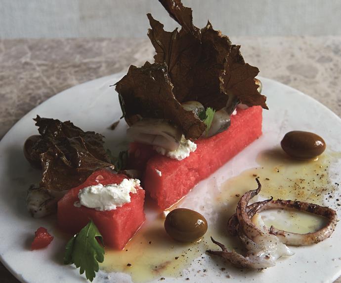 Calamari and Watermelon Salad