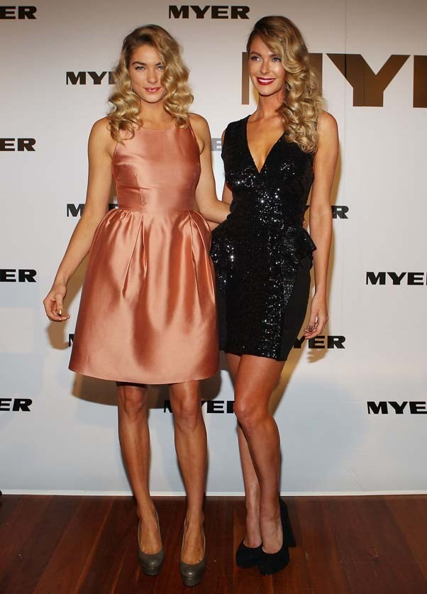 2011, March: All glammed up in a sequinned black mini dress at the MYER Autumn/Winter Season Launch in The Royal Exhibition Building, Melbourne.