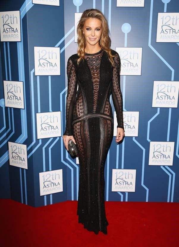 2014, March: Rocking this sheer Roberto Cavalli gown at the 12th ASTRA Awards at Carriageworks, Sydney.