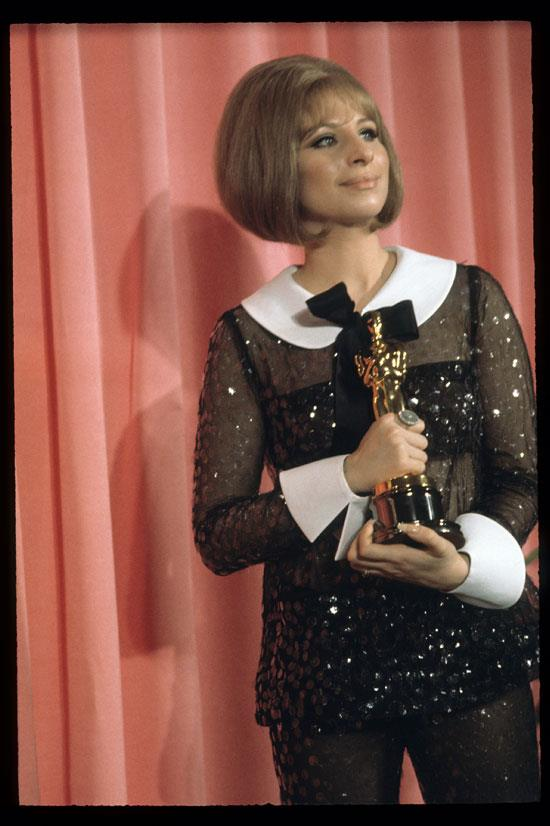 <strong>Barbra Streisand at the Oscars, 1969</strong> <br><br> This sheer pant suit by Scaasi turned a lot of heads at the Oscars that year, and for all the right reasons.