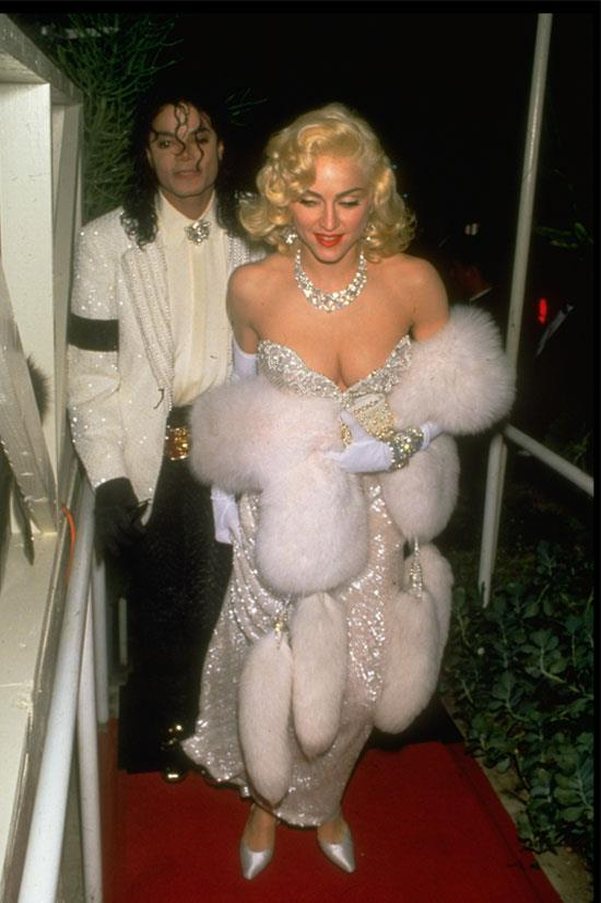 <strong>Madonna at the Oscars, 1991</strong> <br><br> Madonna was accompanied by Michael Jackson at the Oscars that year, and channelled ultimate Hollywood glamour.