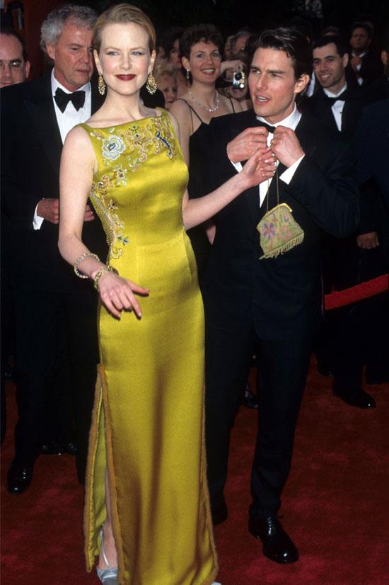 <strong>Nicole Kidman at the Oscars, 1997</strong> <br><br> Everyone was talking about this John Galliano for Christian Dior gown.