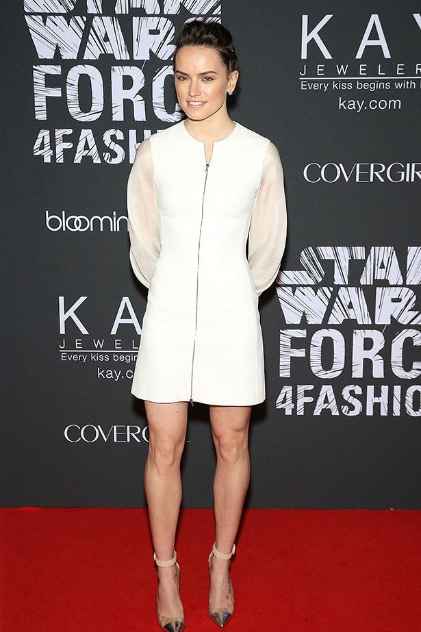 "Daisy Ridley attends Star Wars ""Force 4 Fashion"" launch event at Skylight Modern on December 2, 2015 in New York City."