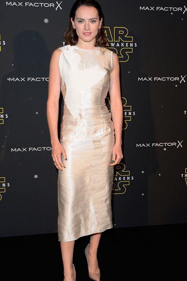 Daisy Ridley attends the Star Wars: Fashion Finds The Force presentation at the Old Selfridges Hotel, London.