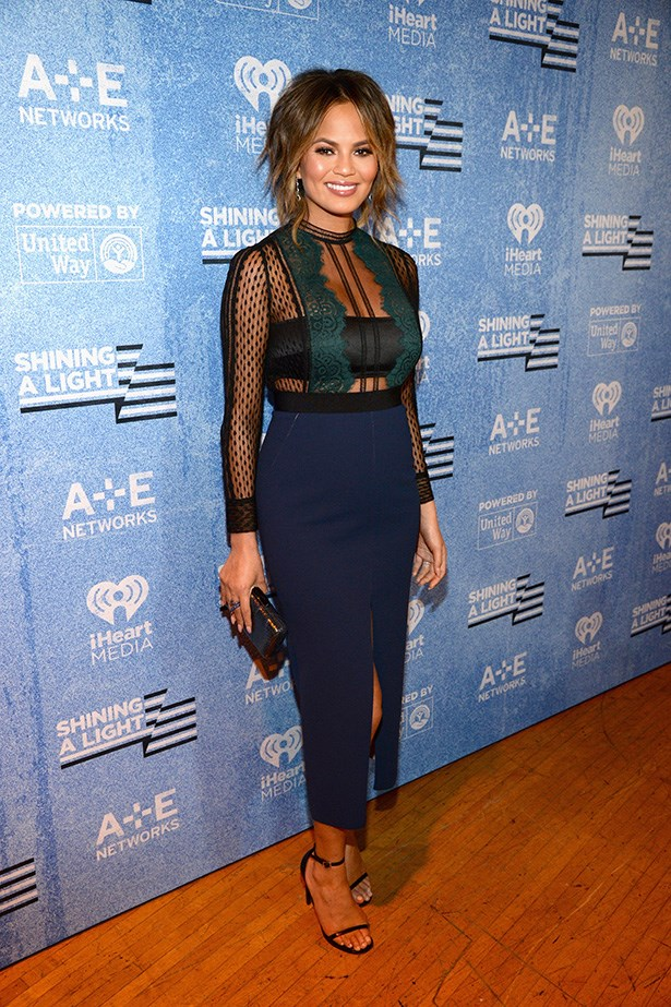 Chrissy Teigen is the master of sexy sheer lace, and you can be too! Just mix it ladylike pieces and longer lengths to add a little contrast.