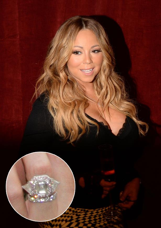 ***Mariah Carey.***<br><br> Mariah could potentially have more than one of her rings on this list, but her pink diamond ring from Nick Cannon is pretty special.