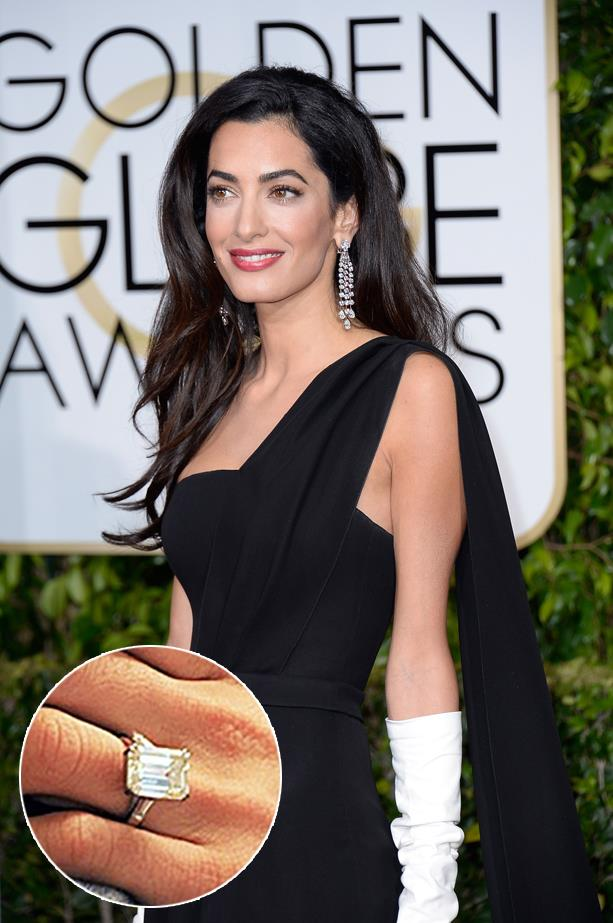 ***Amal Clooney.***<br><br> Amal's ethically-sourced 7-carat ring came in at just under $1 million.