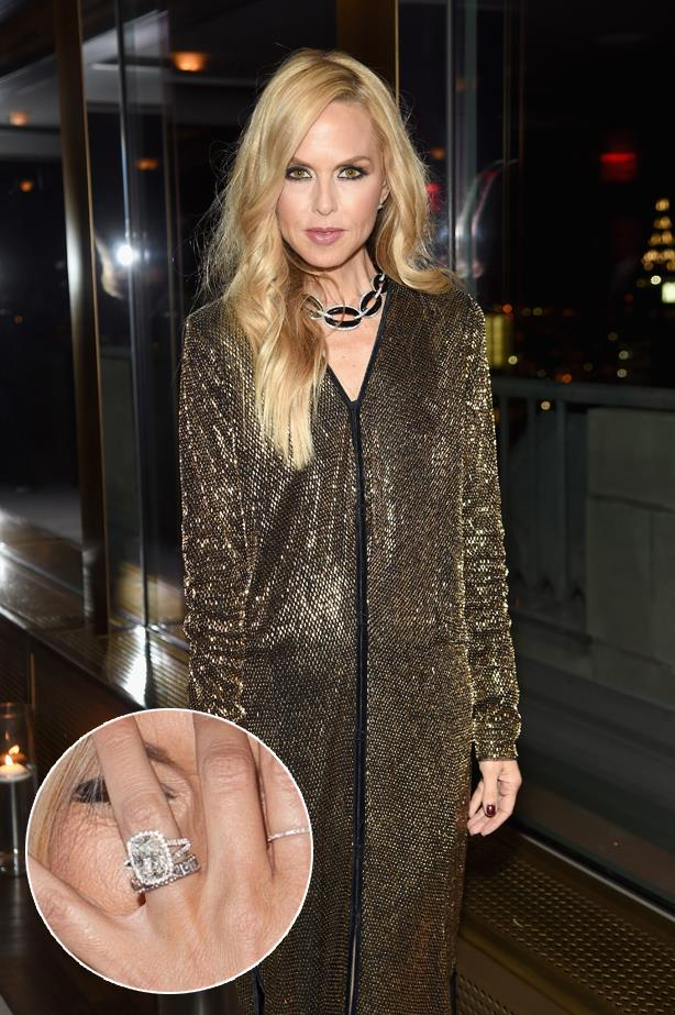 ***Rachel Zoe.***<br><br> Rachel's cushion-cut halo is her second ring from husband Rodger Berman.