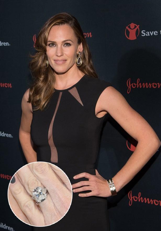 ***Jennifer Garner.***<br><br> Ben Affleck proposed with this 4.5-carat  ring on a platinum band.