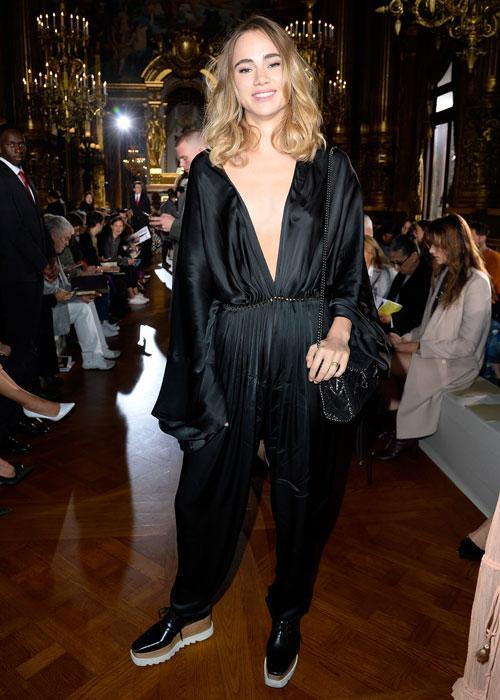 <p><strong>Celebs wearing Stella McCartney platforms: Suki Waterhouse </strong></p> <p>The British model demonstrated the shoe's flawless ability to go from day to night.</p>