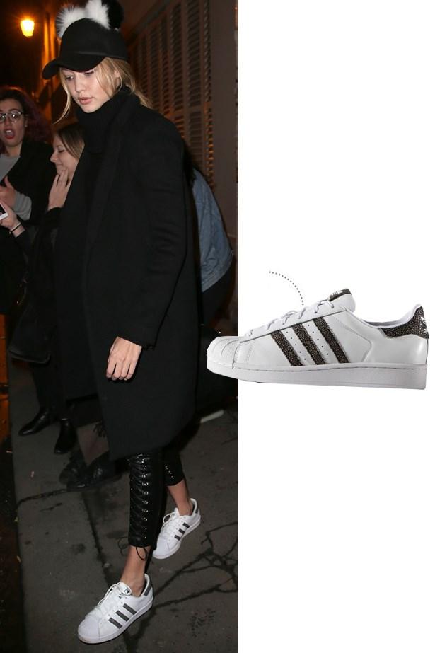 """<a href=""""http://www.adidas.com.au/originals_by_rita_ora"""">Adidas Originals by Rita Ora Superstar Sneakers</a>."""