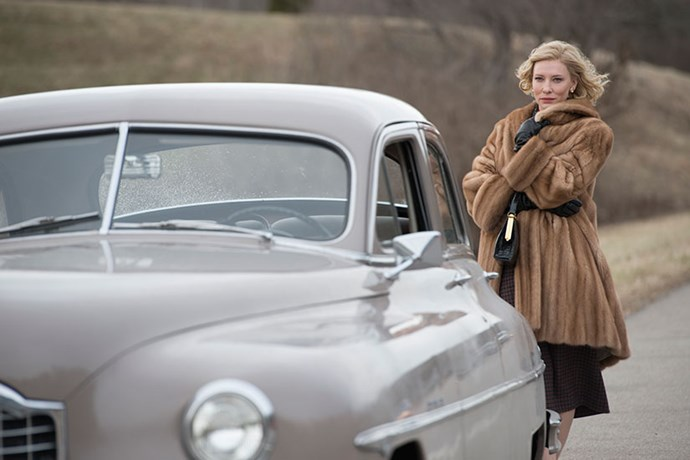 Style hack #5<br> Always coordinate your outfit to your automobile. Warm neutrals work a treat.