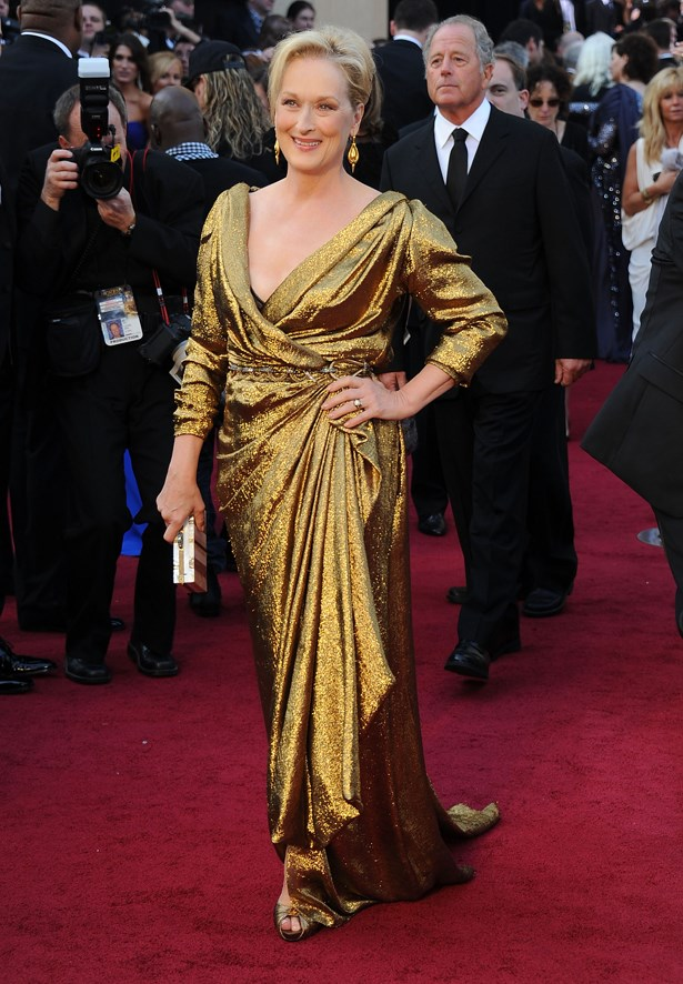 Meryl Streep wore this gold Lanvin dress for her win in 2011.