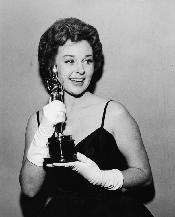 Susan Hayward also rocked white gloves in 1958.