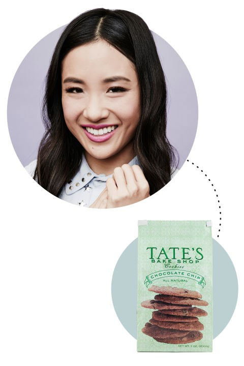 "<strong>Constance Wu</strong><p> <p> ""I wear a bathrobe in my bed and I like these crispy chocolate chip cookies from Tate's Bakery. I'm so into those. I'm watching You're the Worst right now, and it's actually my life. I live in Silverlake; I can be a difficult person; and my boyfriend and I had a weird, tumultuous thing for our first three years. And all the places they film at are the places we go."""
