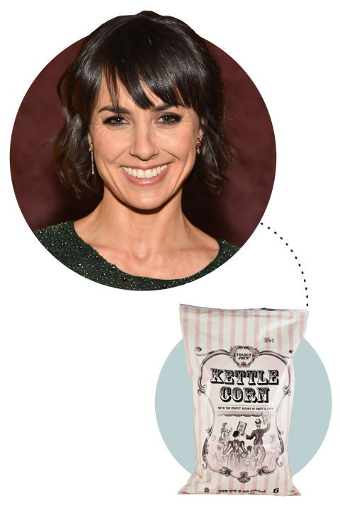"<strong>Constance Zimmer</strong><p> <p> ""Obviously I wear sweats. On my couch. And I eat kettle corn. Kettle corn is the best. The kettle corn from Trader Joe's is amazing. Right now I'm watching the second season of Fargo. It's so good! Kirsten Dunst is amazing."""