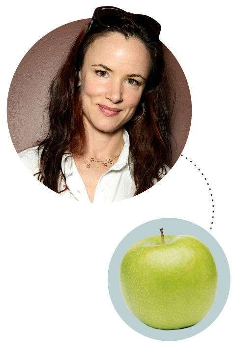 "<strong>Juliette Lewis</strong><p> <p> ""I never understood what this term meant. When I got on my show Secrets and Lies, they were like, 'This is for the binge-watchers' and I was like 'What is that?' And then Making A Murderer came out and when it was 2 a.m. I was like, 'JL, you've got to go to bed!' So I binge-watched that. And I like to be snuggly in my white down comforter with my little pup watching on my laptop. Is that enough visual for you? This is so dumb—and you're going to say 'Oh, you fucking actress'—but I usually eat apples. I eat apples!"""