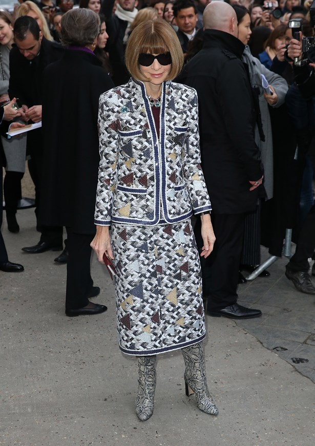 Anna Wintour at Chanel.