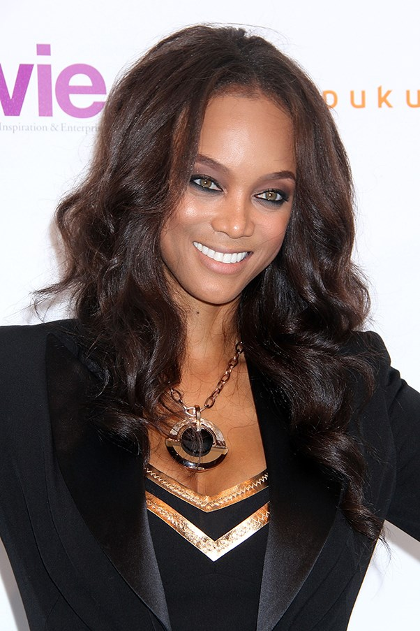 Model Tyra Banks smiling