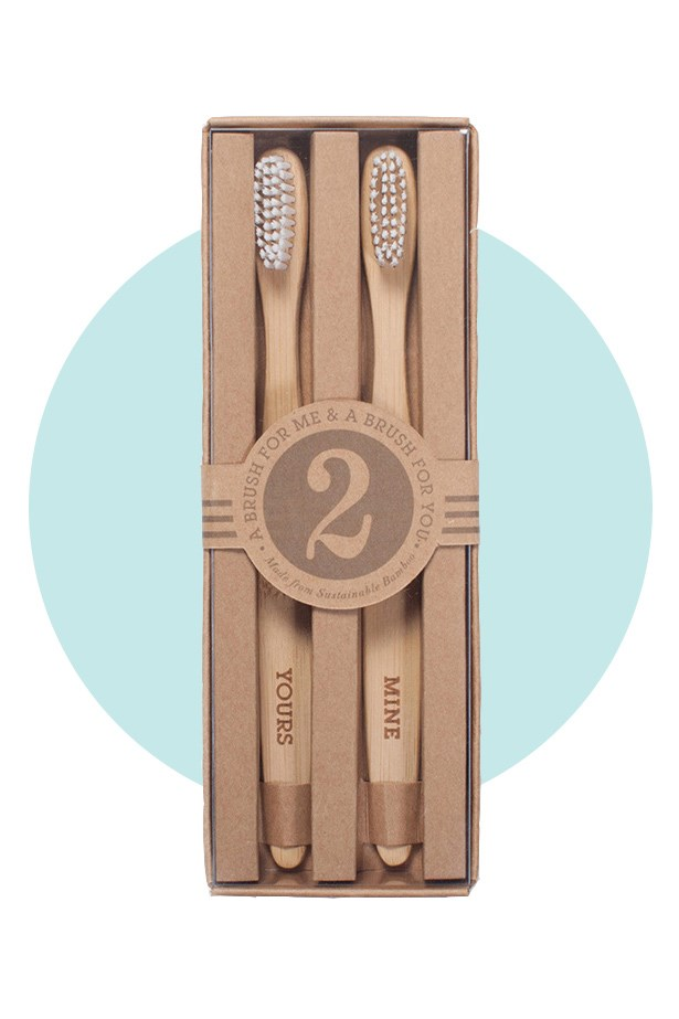 "Say ""no"" to morning breath with this sweet and practical set. <br><br> Toothbrush Set, $16, Third Drawer Down, thirddrawerdown.com"