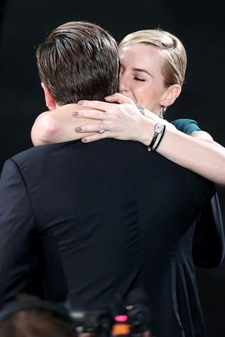 Leonardo DiCaprio and Kate Winslet at the 2016 SAG Awards