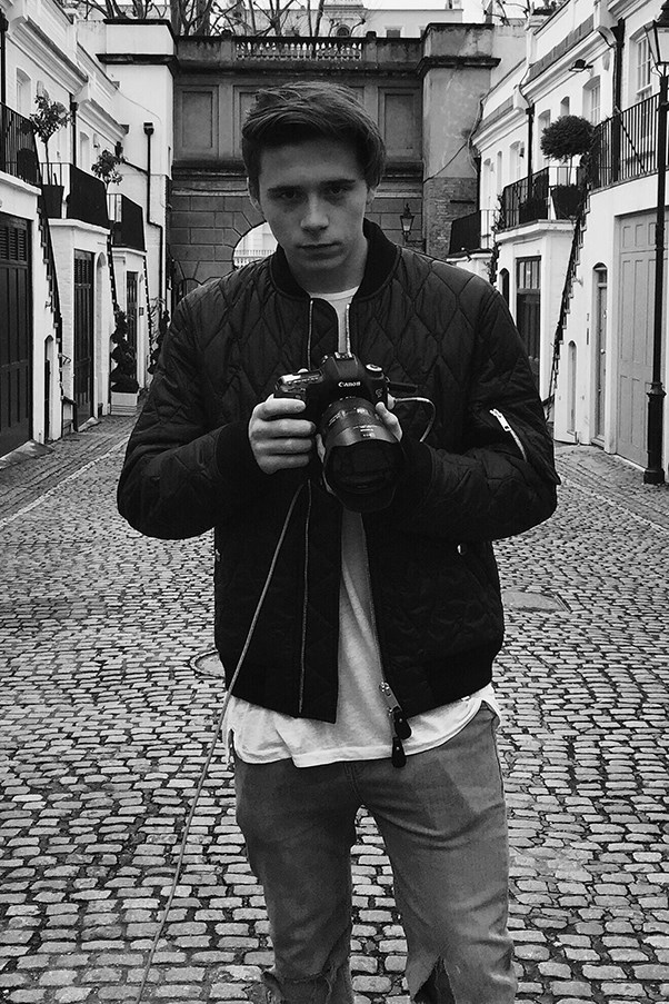 Brooklyn Beckham shoots a campaign for Burberry