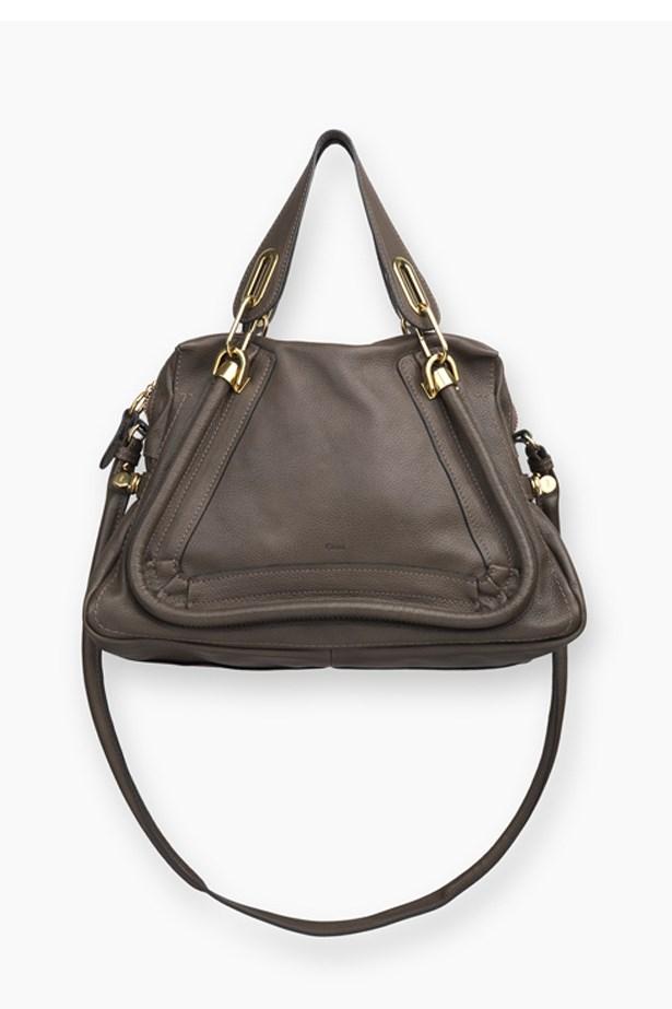 A chocolate brown Chloe Paraty bag
