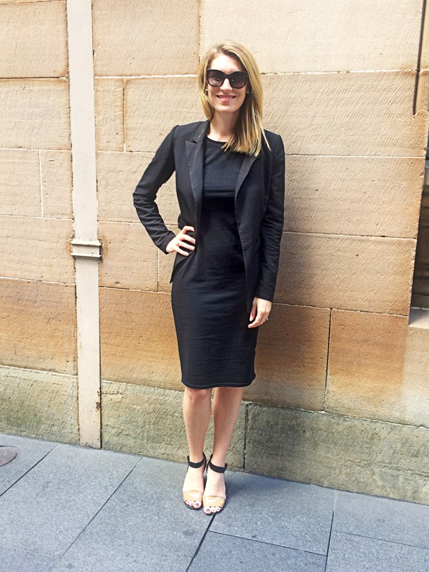 <strong>Janna Johnson O'Toole</strong>, beauty and fitness director<p> <p> Urban Outfitters blazer, Cotton On dress, See By Chloé heels, Chanel sunglasses.