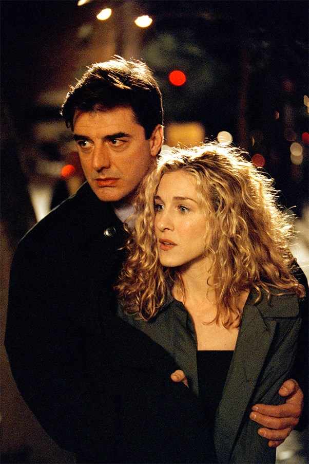 Carrie Bradshaw and Mr Big on Sex And The City