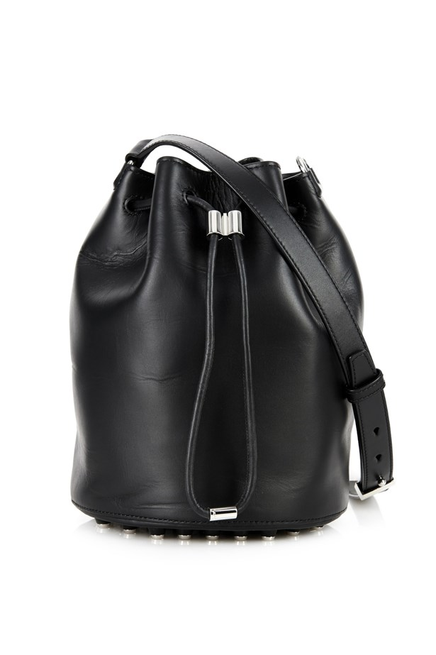 "Alexander Wang <a href=""http://www.matchesfashion.com/au/products/Alexander-Wang-Alpha-leather-bucket-bag-1019674"">'Alpha' leather bucket bag</a>, $1,187"