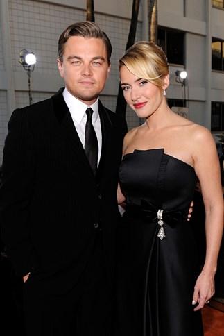 Kate Winslet and Leonardo DiCaprio at The Golden Globe Awards 2009
