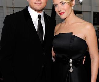 Kate Winslet and Leonardo DiCaprio at The Golden Globe Awards 2009