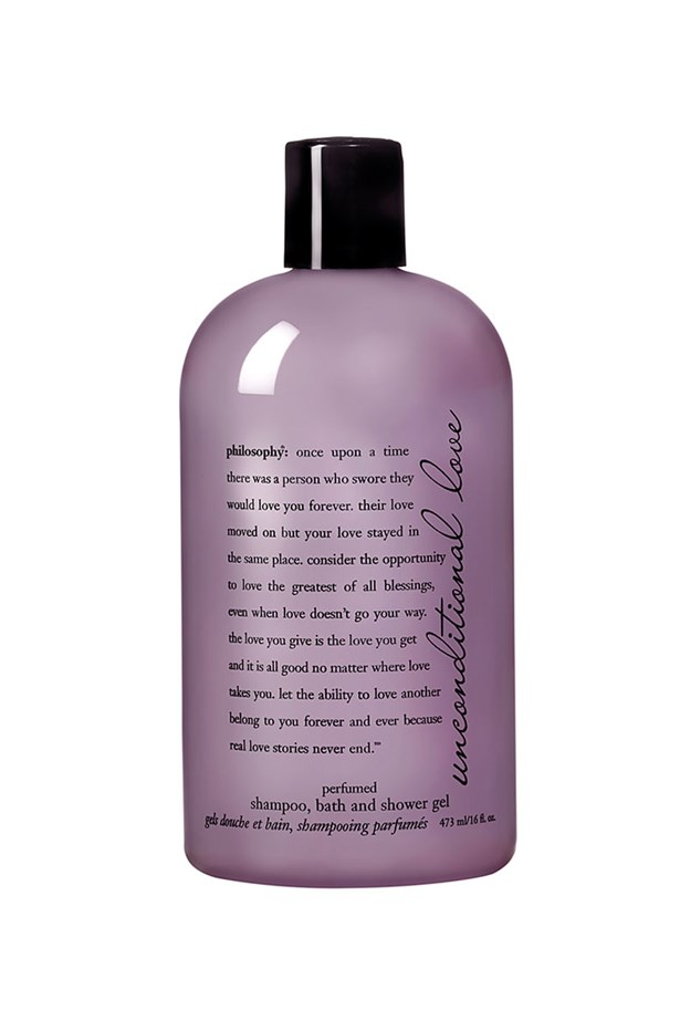 "Philosophy <a href=""http://shop.nordstrom.com/s/philosophy-unconditional-love-perfumed-shampoo-bath-shower-gel/3024080?origin=related-3024080-0-1-PP_4-Data_Lab_Recommendo_V2-fbt_similar_items&recs_categoryId=0&recs_placementId=PP_4&recs_productId=3024080&recs_productOrder=1&recs_referringPageType=item_page&recs_source=Data_Lab_Recommendo_V2&recs_strategy=fbt_similar_items&recs_type=related&cm_ven=Linkshare&cm_cat=partner&cm_pla=15&cm_ite=1&siteId=QFGLnEolOWg-UxFPCKYKh8LRm.Bv62Bw2g"">'Unconditional Love' perfumed shampoo, bath & shower gel</a>, $37."