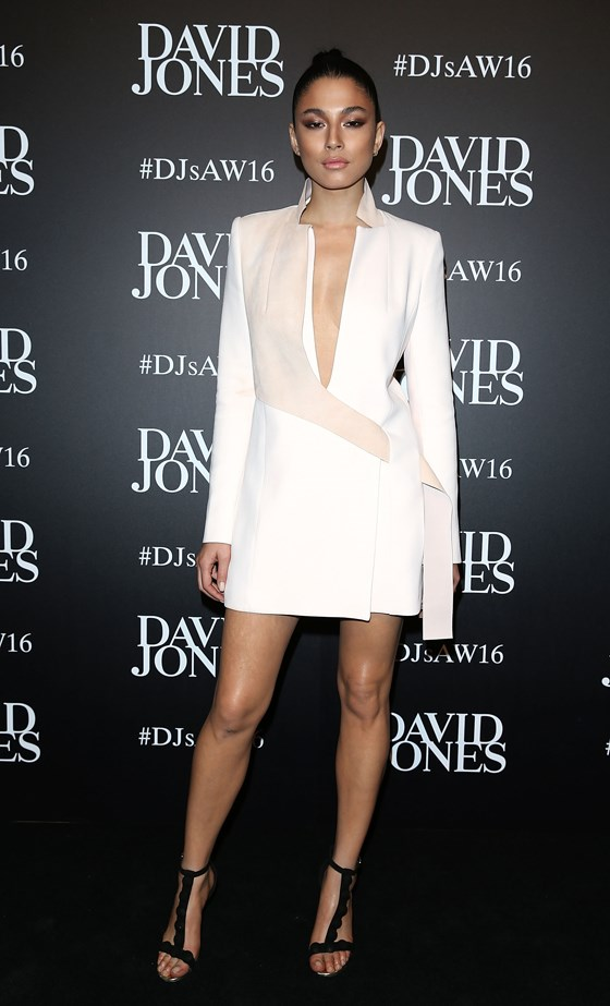 Jessica Gomes at the David Jones Autumn/Winter 16 fashion launch