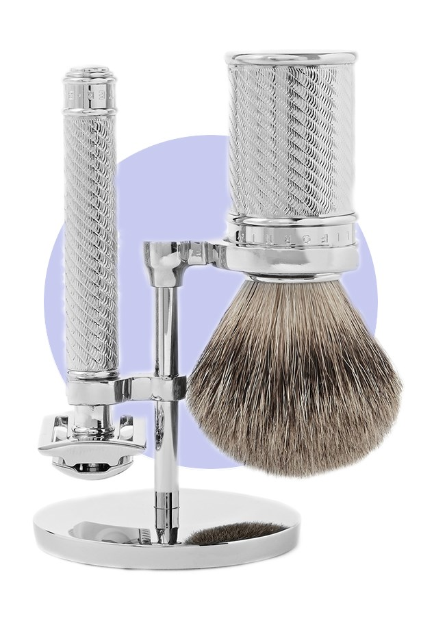 <strong>Baxter of California</strong> <br><br> Bringing the relaxed, surf shop vibes of California to sunny Australia, LA Skincare label, Baxter of California creates a curated selection of male grooming products. <br><br> Go-to product: the dapper shaving set <br><br> Opt for the chic, Three-Piece Shaving Set complete with a badger-hair brush, razor and fancy, 'Barbershop' stand that you won't mind having out in your bathroom. <br><br> Three-piece Shaving Set, $365.25, Baxter of California, mrporter.com