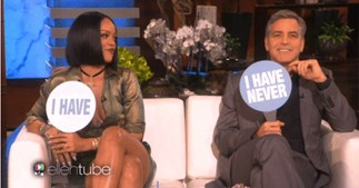 Rihanna and George Clooney on Ellen