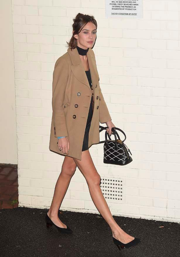 Alexa Chung takes the neck tie trend for a spin.