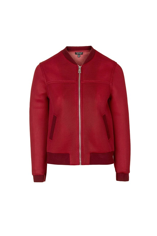 "Bomber jacket, $99, <a href=""http://www.topshop.com/en/tsuk/product/new-in-this-week-2169932/airtex-bomber-jacket-5213101?bi=1&ps=20"">Topshop</a>"