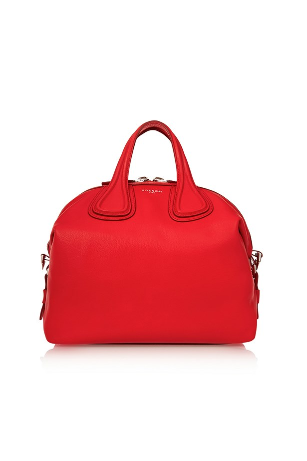 "Givenchy, $3315, <a href=""https://www.net-a-porter.com/au/en/product/649026/givenchy/medium-nightingale-bag-in-red-textured-leather"">Net-A-Porter</a>"