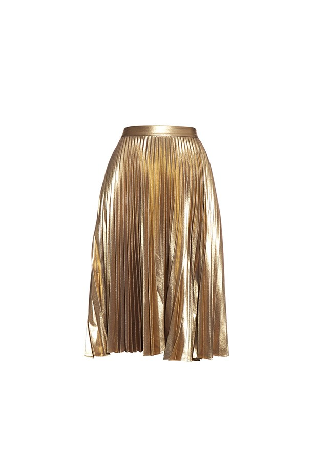 "ALC pleated skirt, $866, <a href=""http://www.matchesfashion.com/au/products/A-L-C--Gates-metallic-pleated-skirt--1038999"">Matches Fashion</a>"