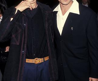 Leonardo DiCaprio and Johnny Depp at the Los Angeles premiere of What's Eating Gilbert Grape