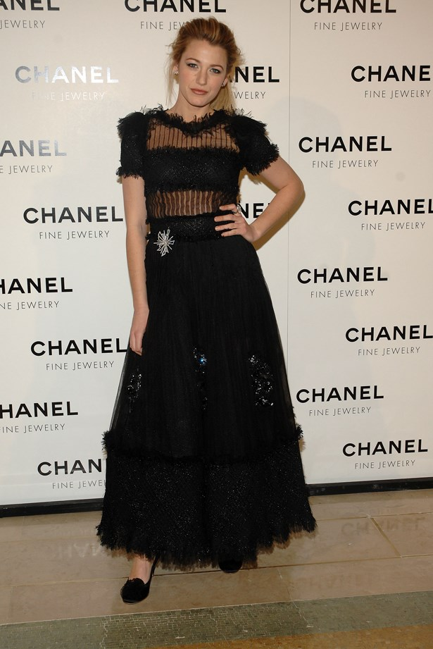 Blake rocks star-spangled Chanel.
