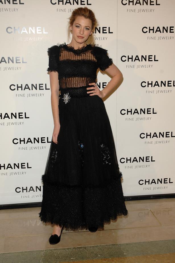 Blake rocks star-spangled Chanel.