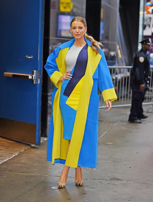 Matching dress and coat for <em>Good Morning America</em>.