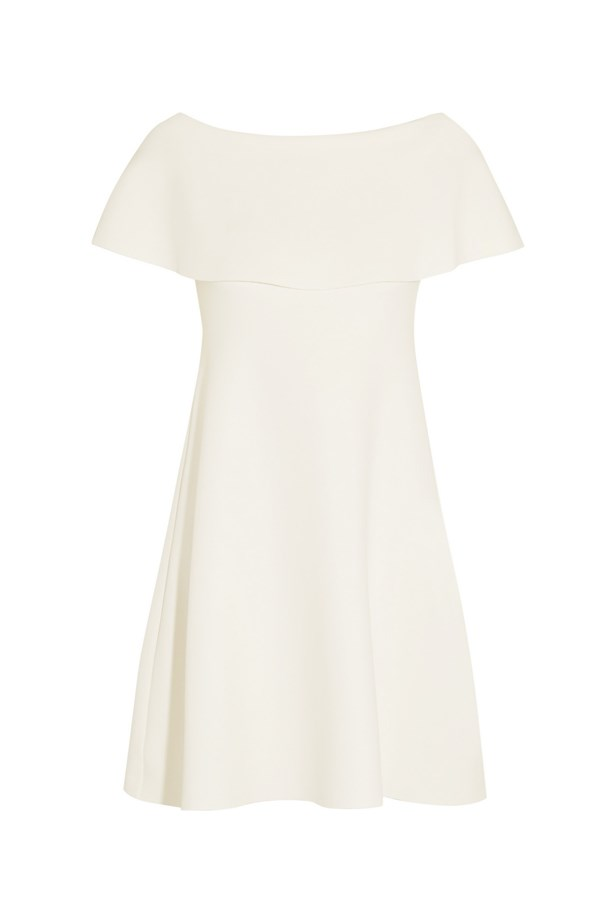 "Off-the-shoulder jersey mini dress, $2,381, <a href=""http://www.net-a-porter.com/au/en/product/646689/Valentino/off-the-shoulder-jersey-mini-dress"">Net-A-Porter</a>."